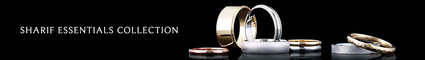 Sharif Essentials Collection Wedding Bands